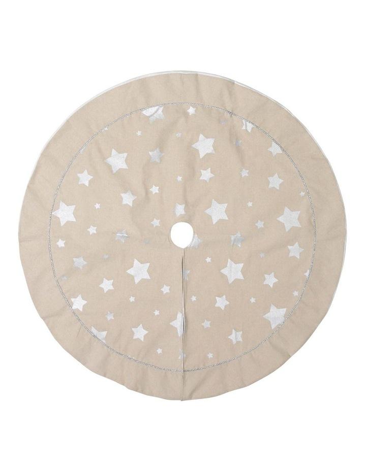 Eucalyptus Hessian Silver Star Tree Skirt image 1