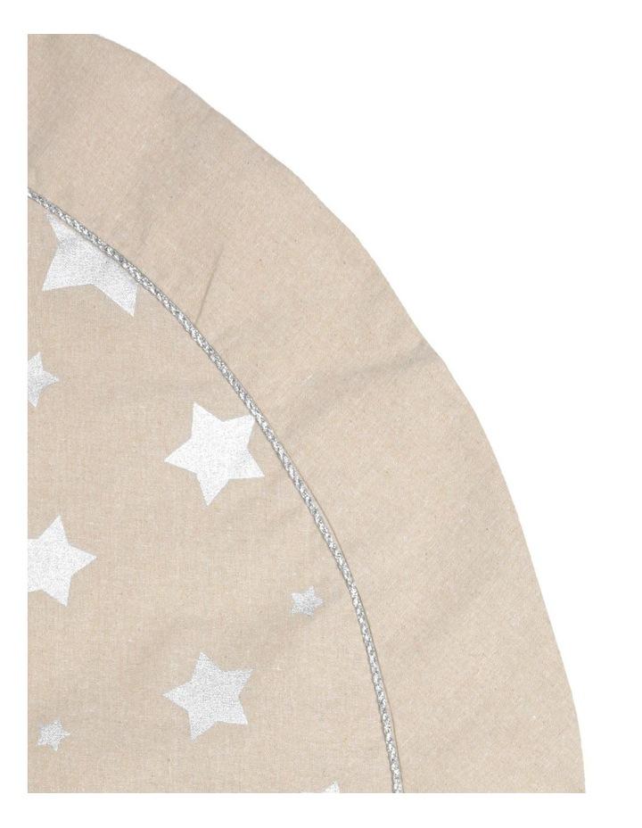 Eucalyptus Hessian Silver Star Tree Skirt image 2