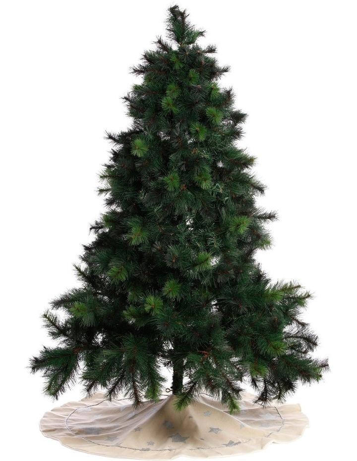 Eucalyptus Hessian Silver Star Tree Skirt image 3