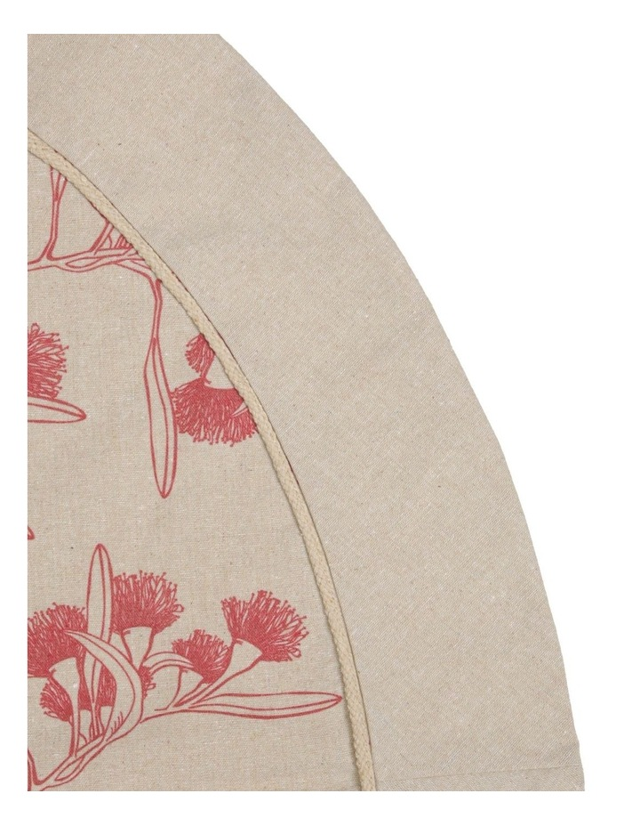 Eucalyptus Hessian Pink Gumnut Tree Skirt image 2
