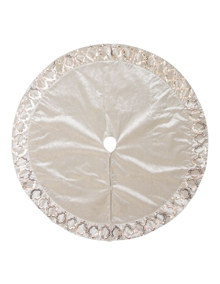 Luxe Tree Skirt with Sequin-Patterned Trim image 1