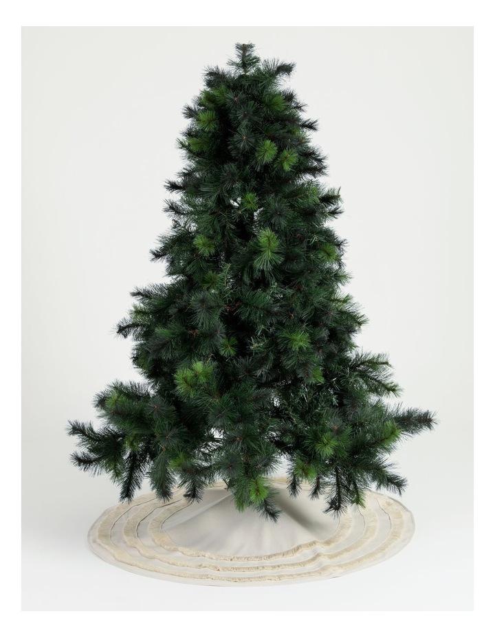 Eucalyptus Linen Fringed Tree Skirt- Cream: 121cm image 2