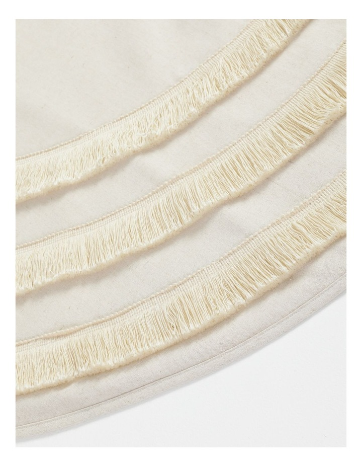 Eucalyptus Linen Fringed Tree Skirt- Cream: 121cm image 3