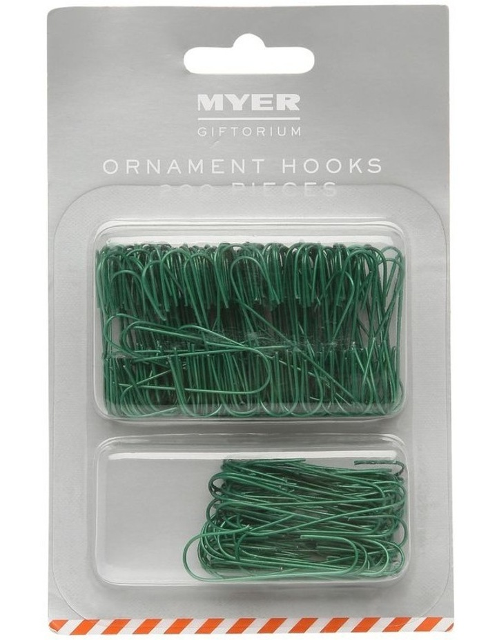 200 Piece Green Ornament Hooks image 1