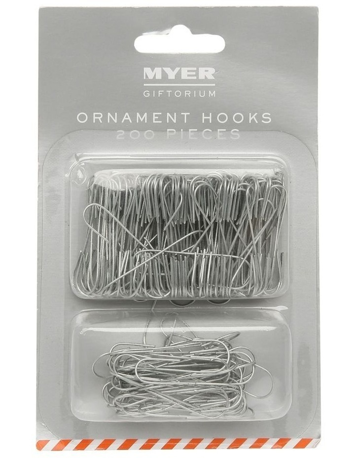 200 piece Silver Ornament Hooks image 1