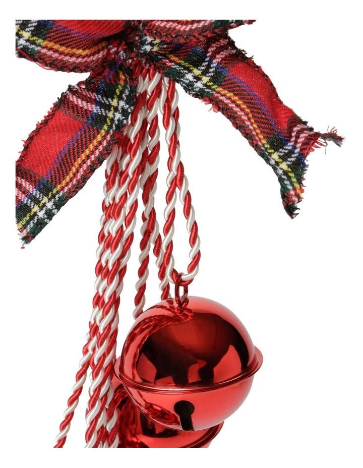 Heirloom Red Bell Cluster With Tartan Bow Door Hanger image 2