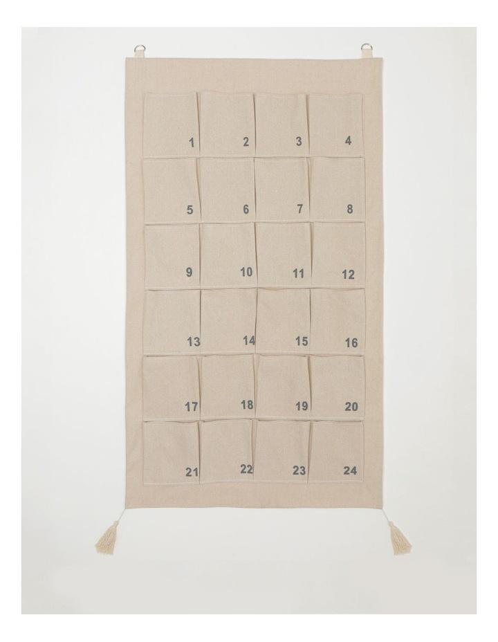 Eucalyptus Fabric Hanging Calendar- White: 70 cm image 1
