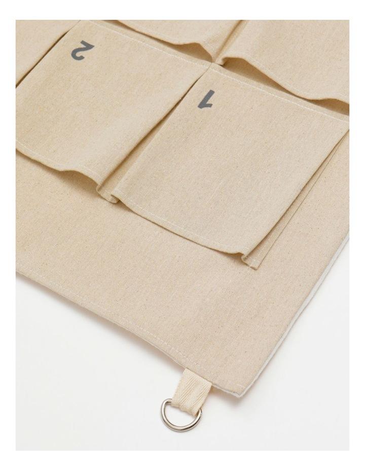 Eucalyptus Fabric Hanging Calendar- White: 70 cm image 2