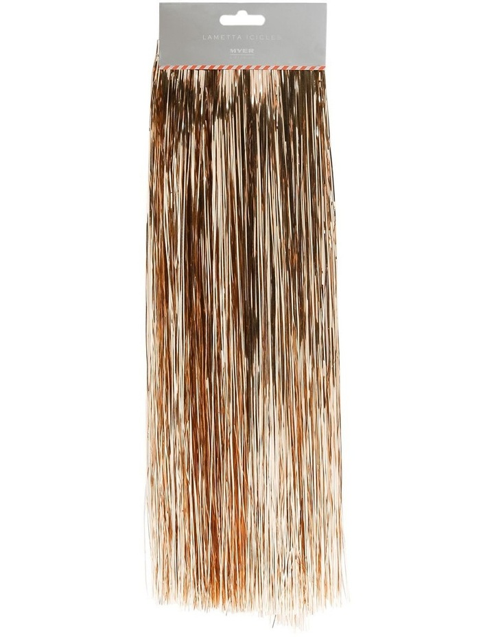Crimped Lametta Icicles: 1400 Strands - Champagne image 1
