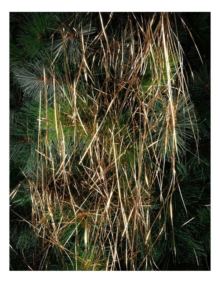 Crimped Lametta Icicles: 1400 Strands - Champagne image 2
