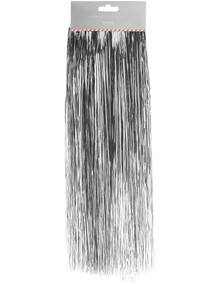 Crimped Lametta Icicles: 1400 Strands - Silver image 1