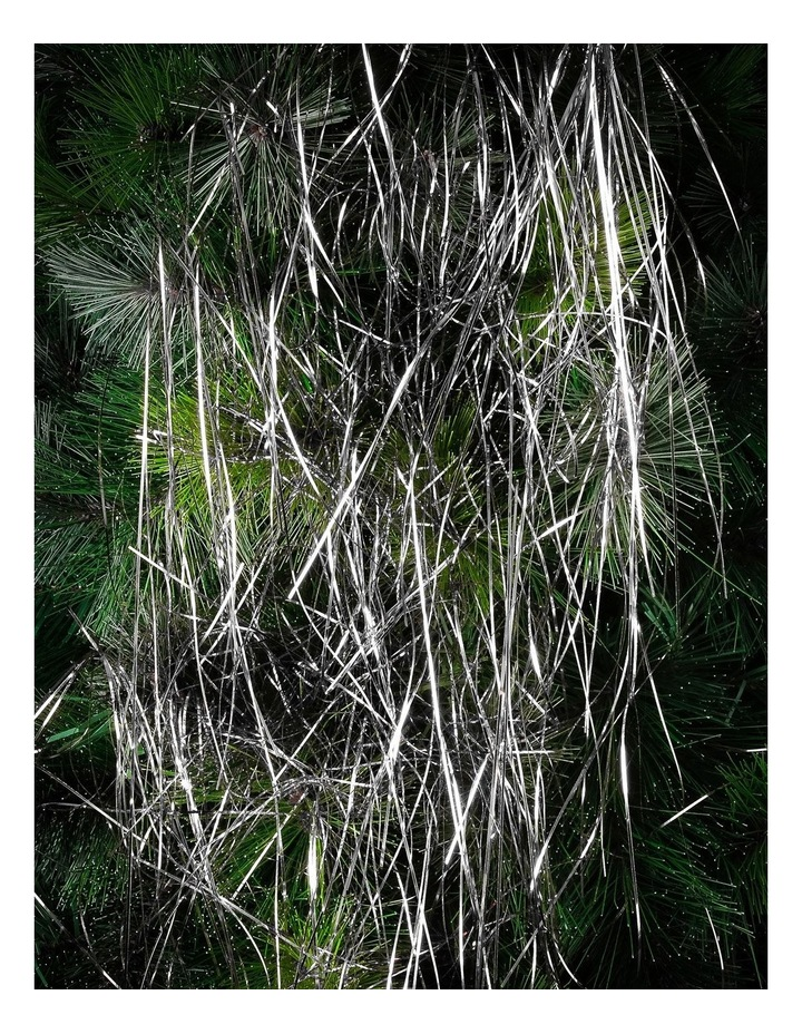 Crimped Lametta Icicles: 1400 Strands - Silver image 2
