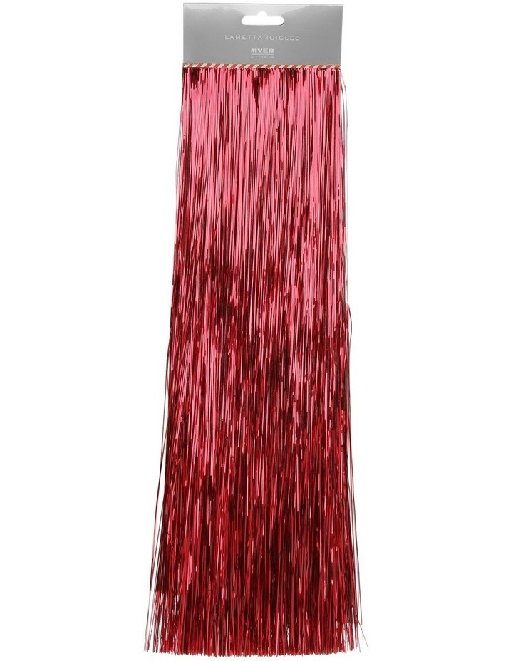 Crimped Lametta Icicles: 1400 Strands - Red image 1
