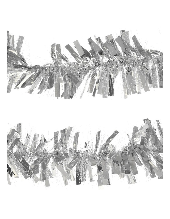 Traditional Tinsel, Silver 8cm x 4m image 1