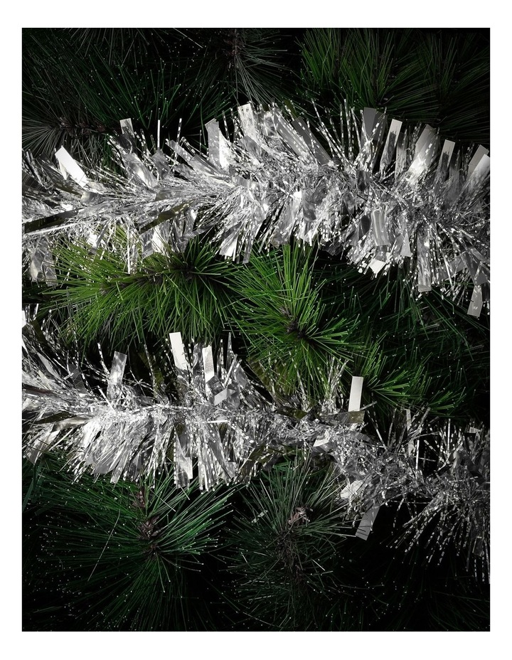 Traditional Tinsel, Silver 8cm x 4m image 2