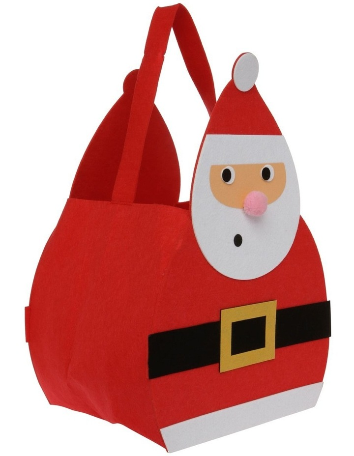 Merry & Bright Oversized Felt Santa Basket image 2