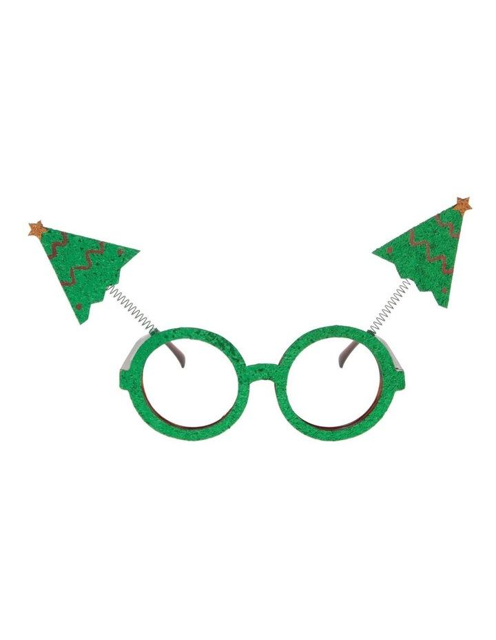Merry & Bright Green Novelty Tree Eyeglasses image 1