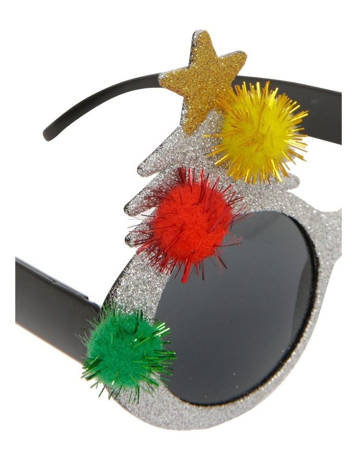 Merry & Bright Silver Tree with Pom-Pom Plastic Party Glasses image 3