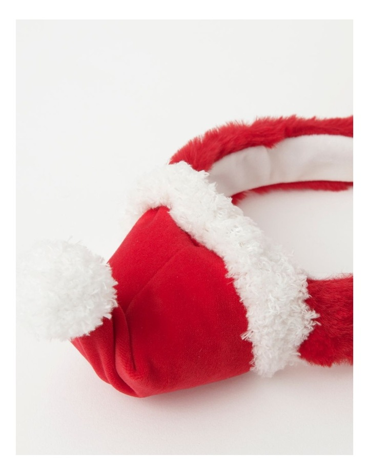 Merry & Bright Fabric Santa Headband w/ Pump- Red: 60cm image 2