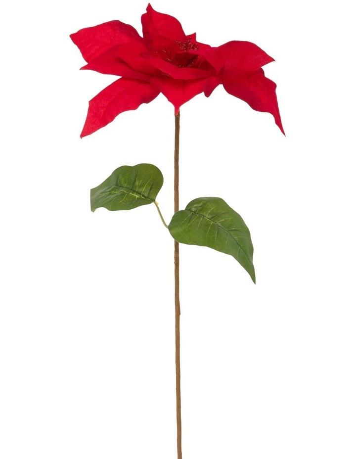 Heirloom Red Velvet Poinsettia Pick Ornament image 1