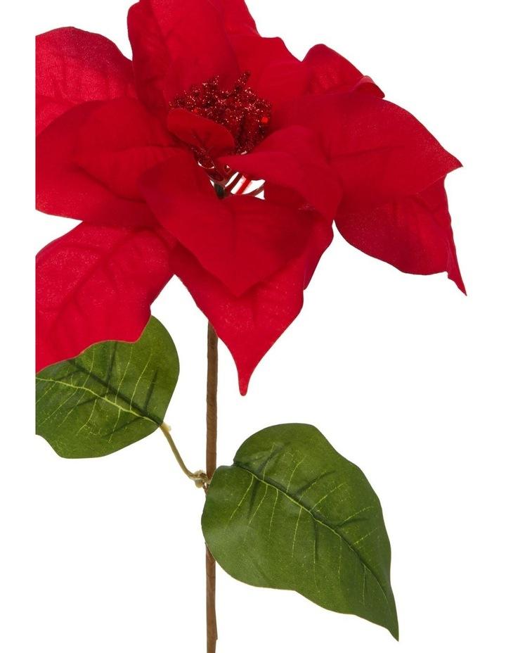 Heirloom Red Velvet Poinsettia Pick Ornament image 2