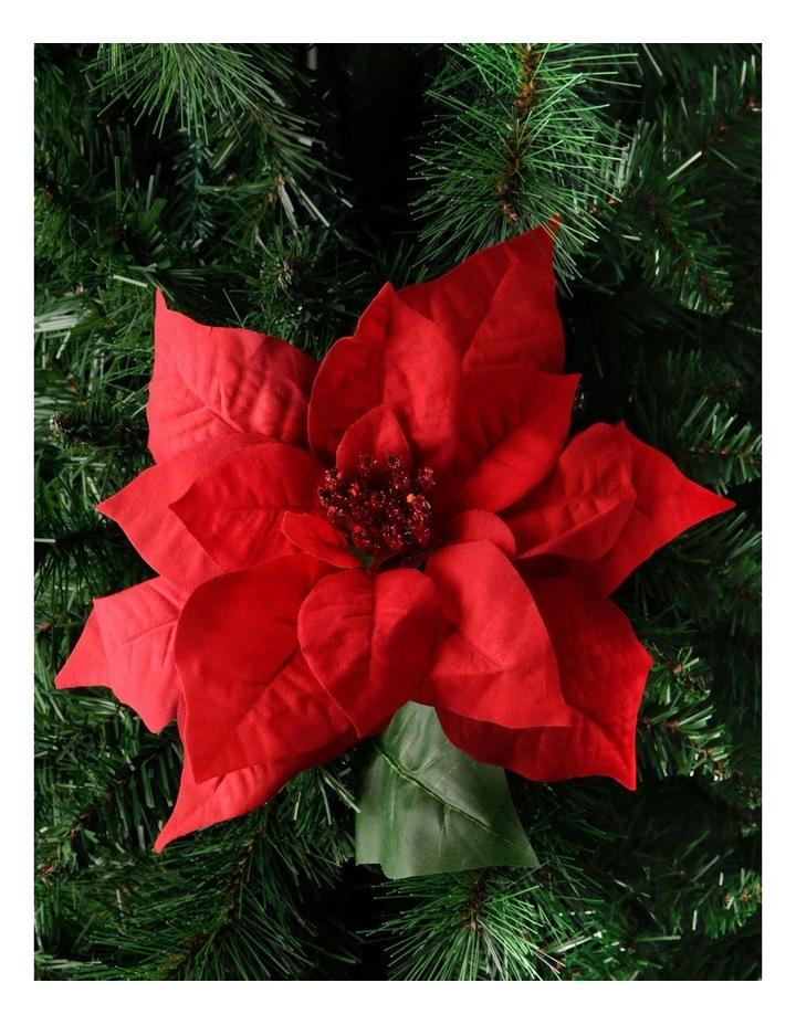 Heirloom Red Velvet Poinsettia Pick Ornament image 3