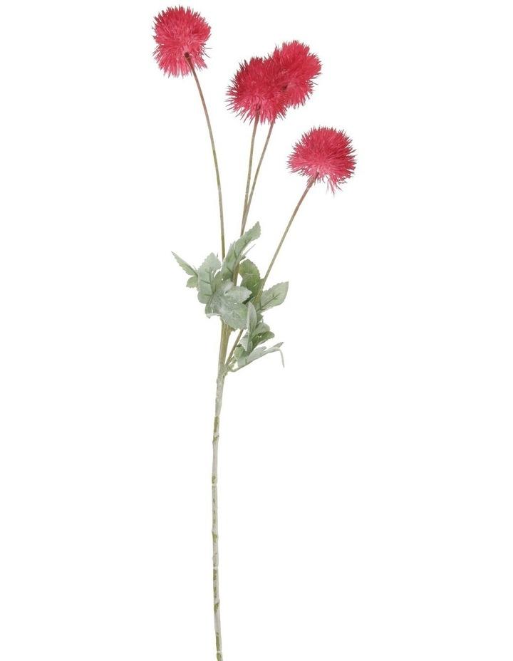 Eucalyptus Faux Powder-Puff Flower Spray Pick image 1