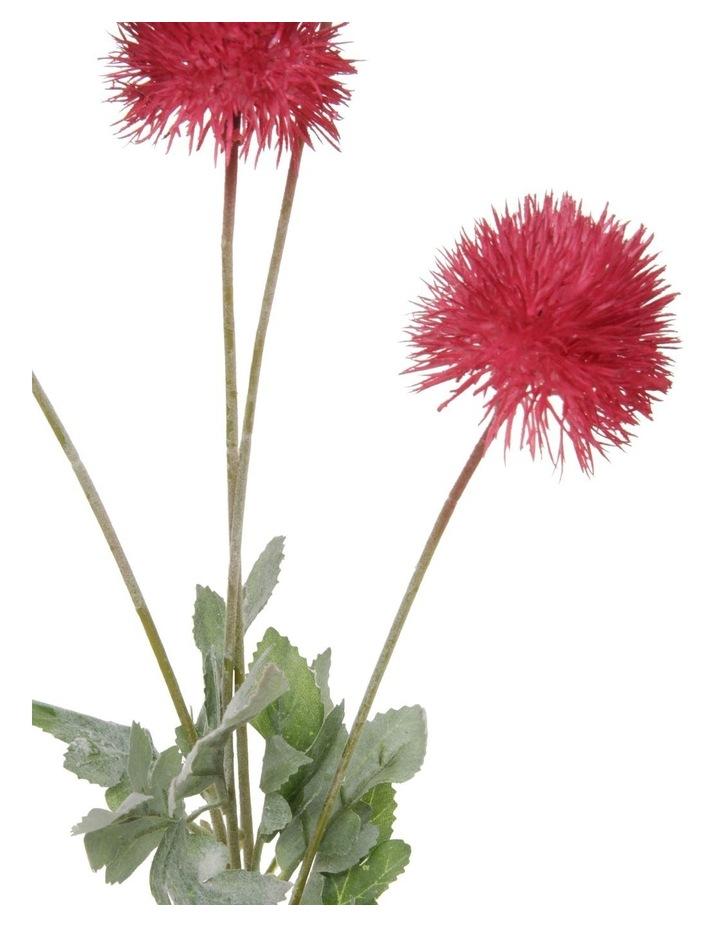 Eucalyptus Faux Powder-Puff Flower Spray Pick image 2