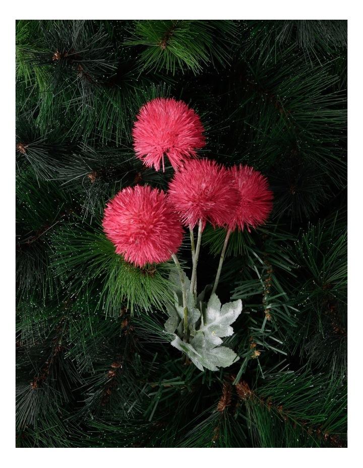 Eucalyptus Faux Powder-Puff Flower Spray Pick image 3