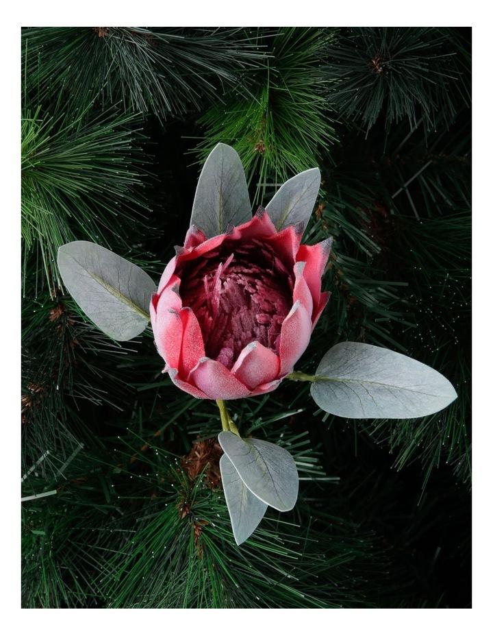 Eucalyptus Faux Pink Protea Flower Pick image 2