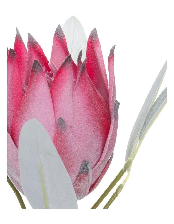 Eucalyptus Faux Pink Protea Flower Pick image 3