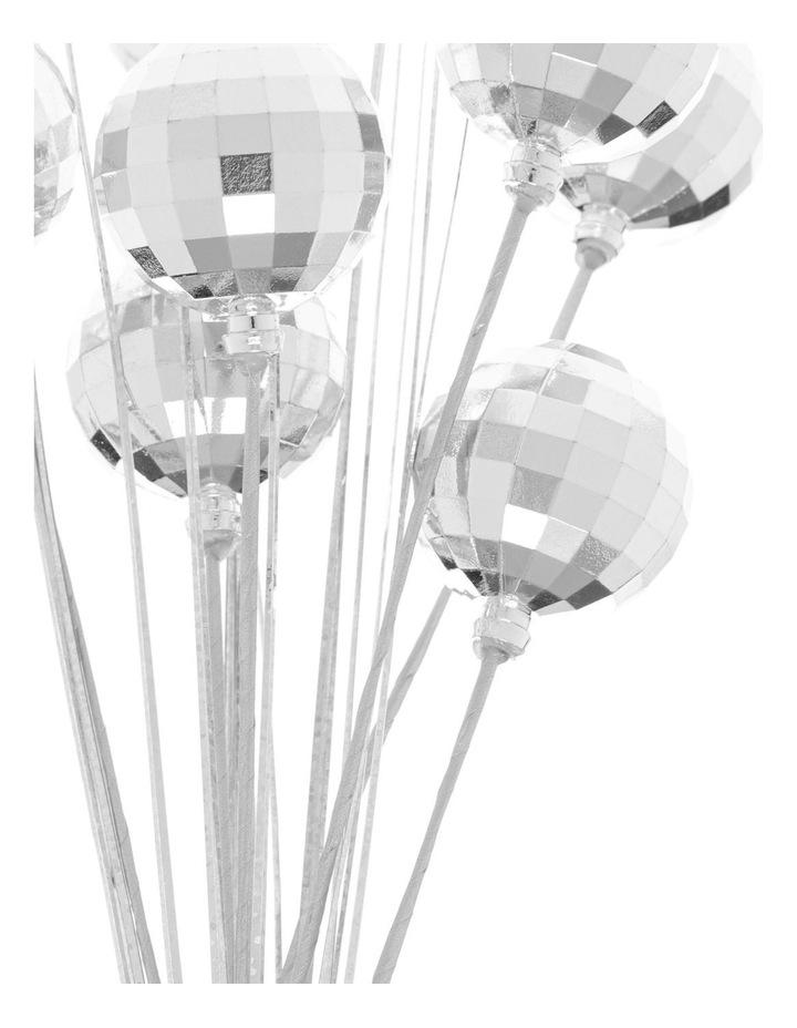 Merry & Bright Silver Disco Ball & Pine Spray Pick image 2