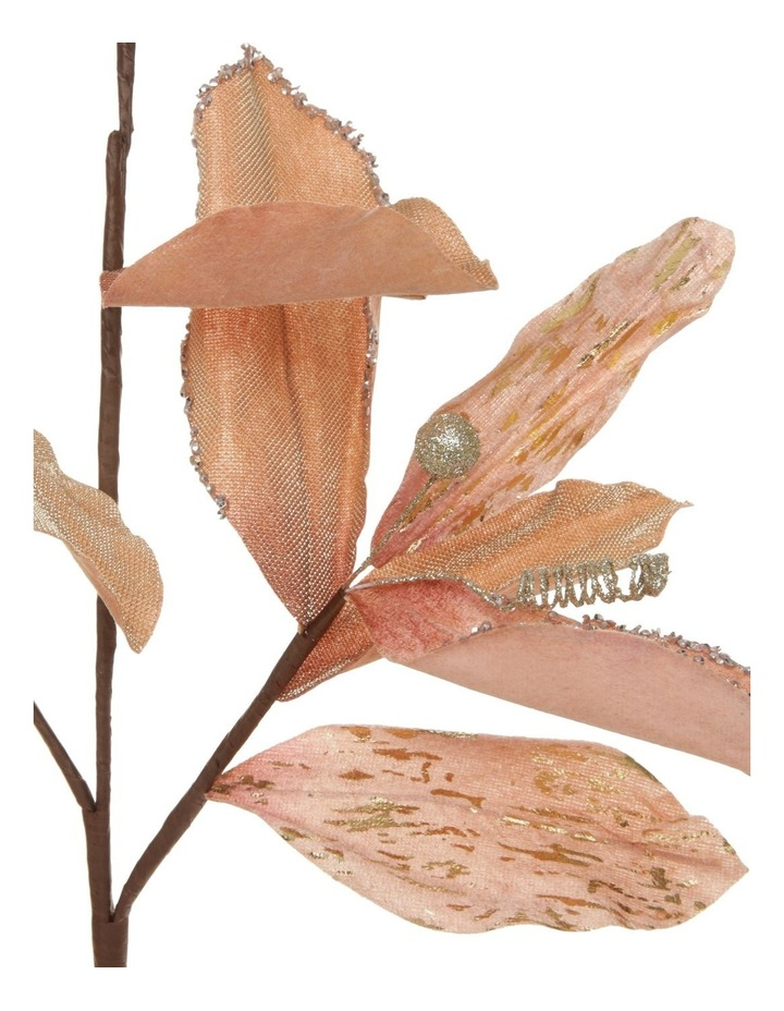 Luxe Faux Pink Magnolia Leaf Glitter Pick image 2