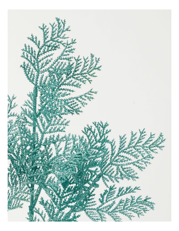 Luxe Glittered Faux Cypress Pine Spray Pick- Mint: 50cm image 3