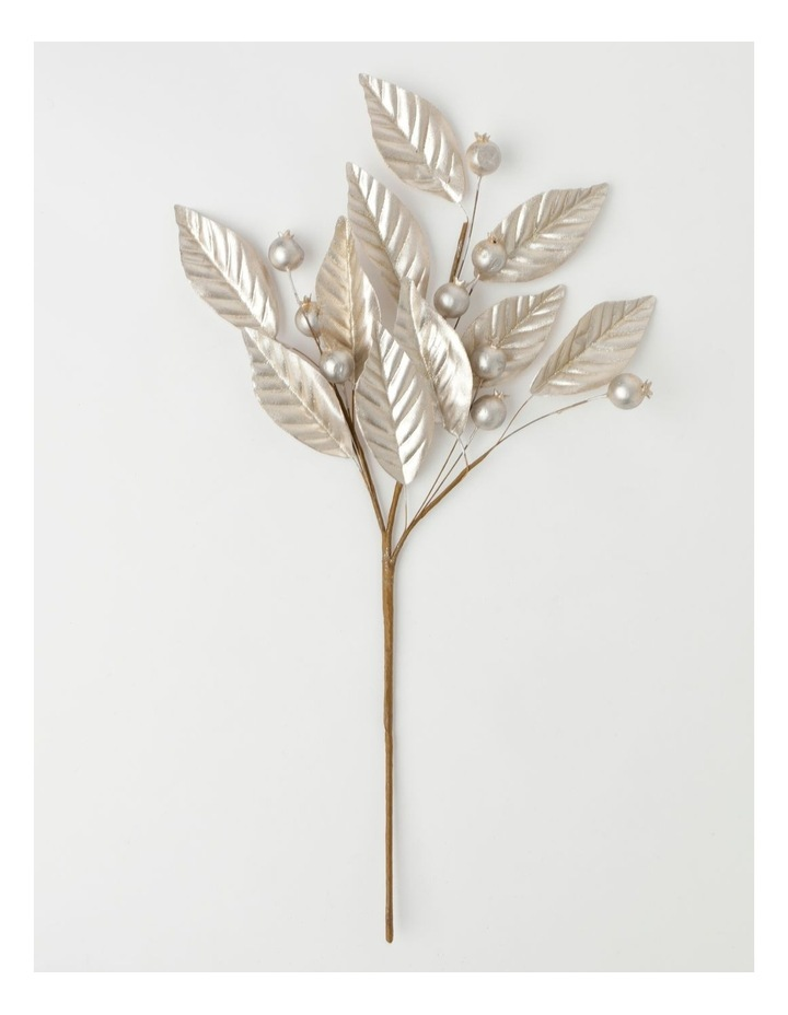 Luxe Faux Pomegranate & Leaves Spray Pick- Champagne: 50 cm image 2