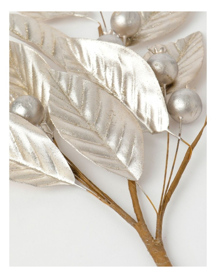 Luxe Faux Pomegranate & Leaves Spray Pick- Champagne: 50 cm image 3