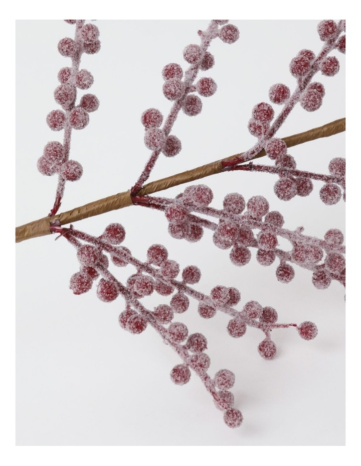 Heirloom Faux Frosted Berry Spray Pick- Red: 50cm image 3