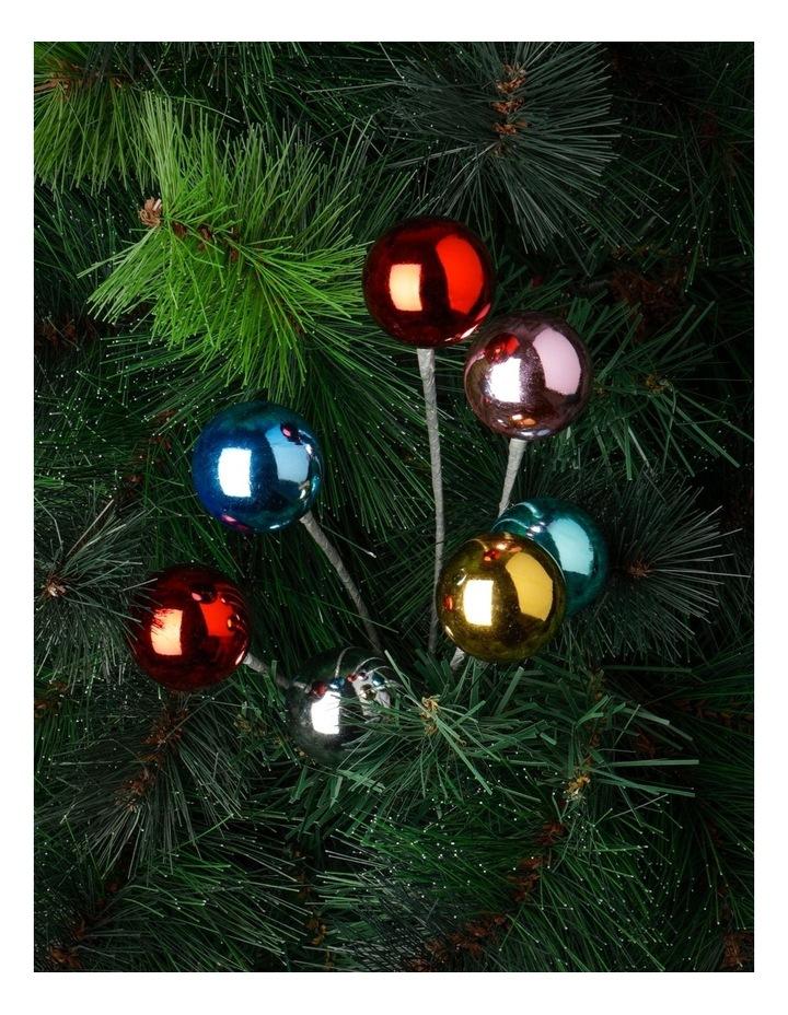 Merry & Bright Plastic Disco Ball & Pine Spray Pick- Silver: 50 Cm image 2