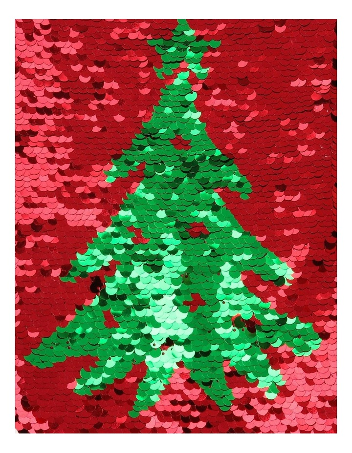 Merry & Bright Reversible Sequin Pine Tree Stocking - Red/Green 43 cm image 4