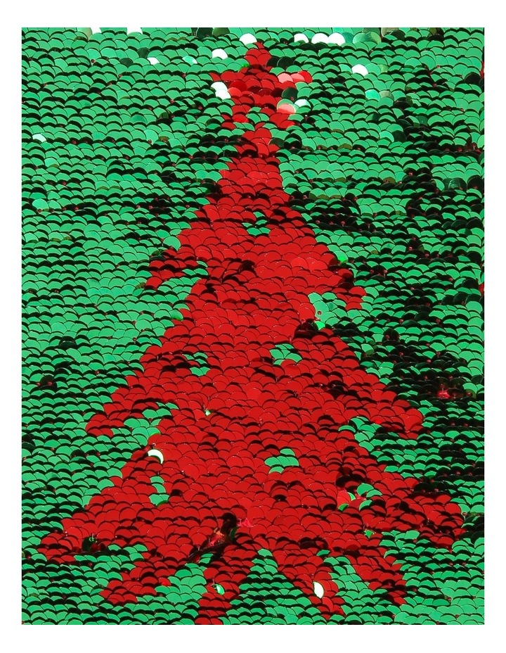 Merry & Bright Reversible Sequin Pine Tree Stocking - Red/Green 43 cm image 5