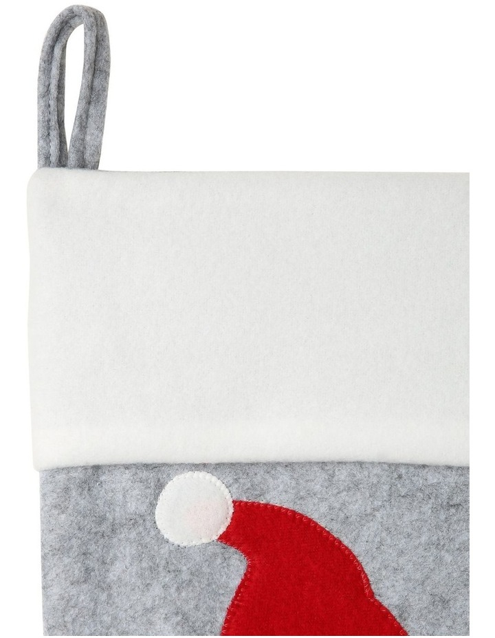 Merry & Bright Baby's 1st Koala Face with Santa Hat & Scarf Stocking - Grey/Red 44 cm image 3