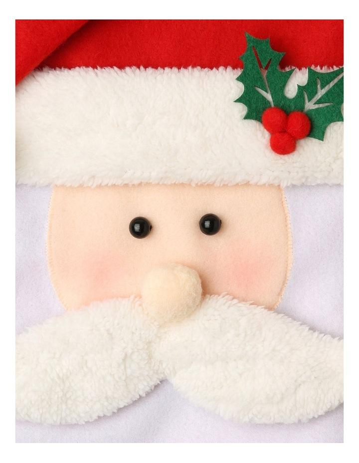 Merry & Bright Fabric & Felt Santa Stocking - Red/White 42 cm image 2