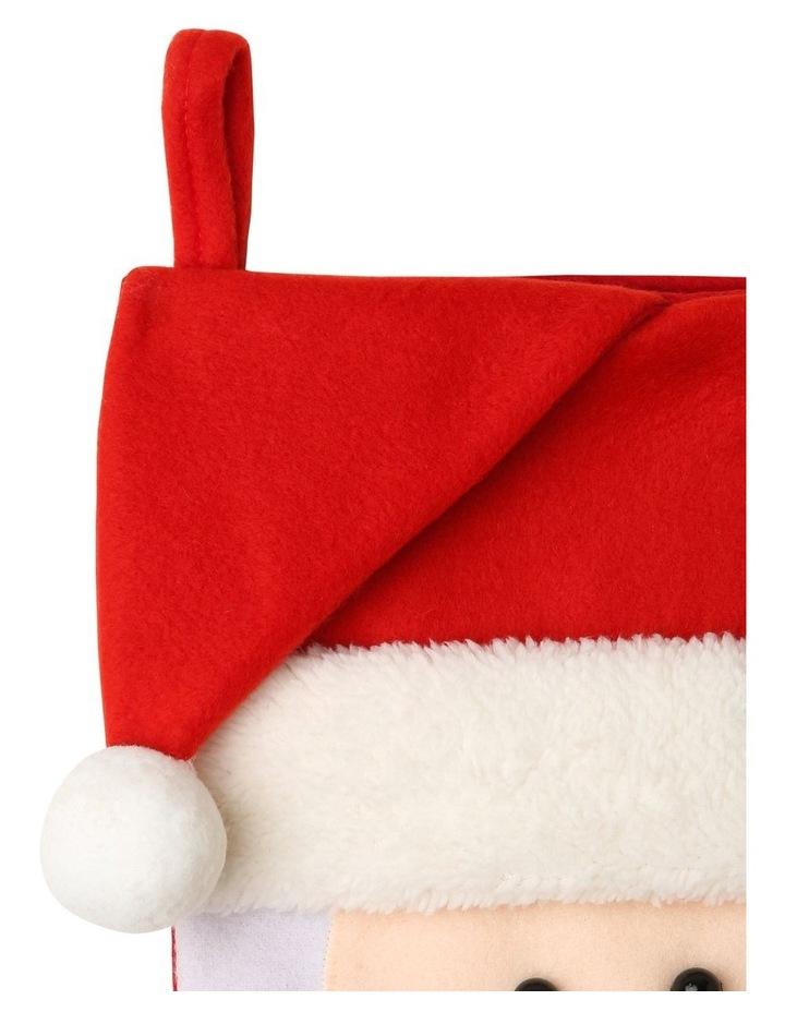 Merry & Bright Fabric & Felt Santa Stocking - Red/White 42 cm image 3