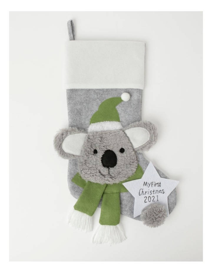 Eucalyptus Baby's First Felt Koala Stocking- Grey: 44cm image 1