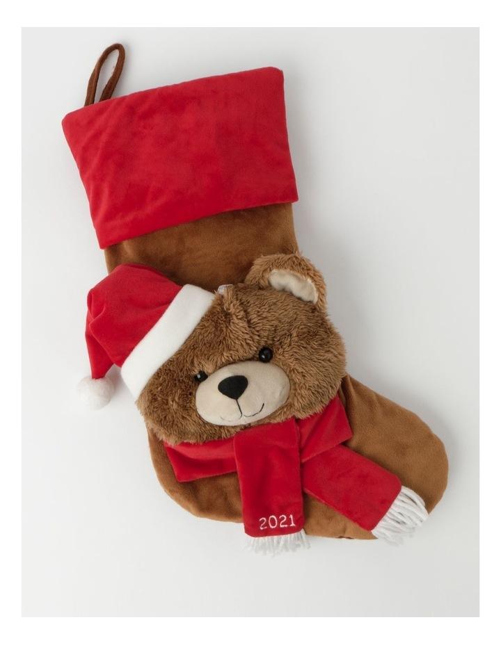 Heirloom Monty Bear Fel Stocking- Brown: 44 Cm image 1