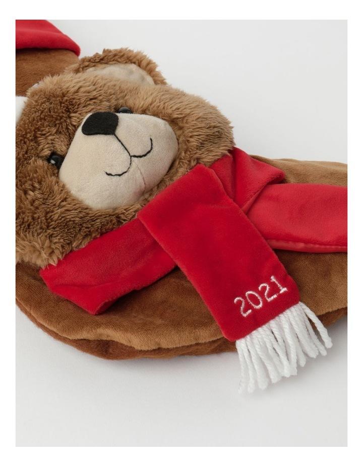 Heirloom Monty Bear Fel Stocking- Brown: 44 Cm image 2