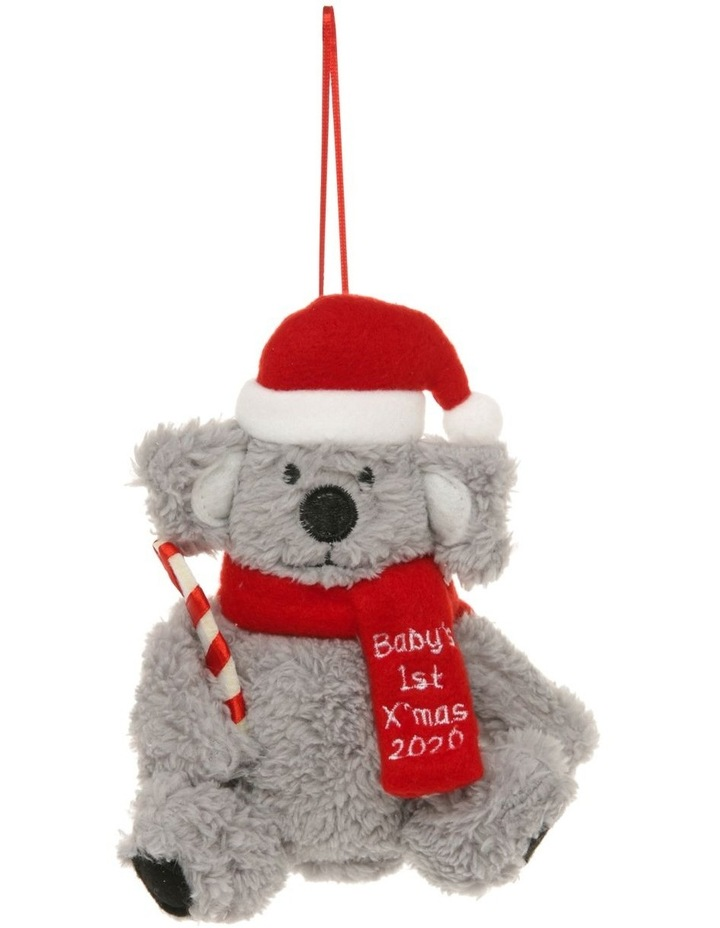 Merry & Bright 'Baby's First' Fabric Koala Hanging Ornament image 1