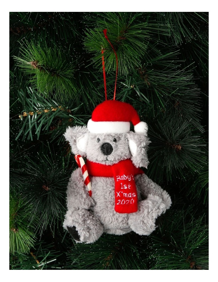 Merry & Bright 'Baby's First' Fabric Koala Hanging Ornament image 3