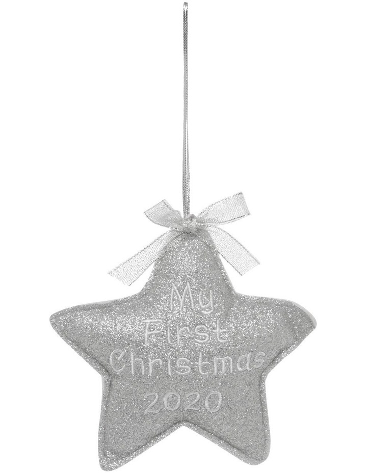 Merry & Bright 'Baby's First' Fabric Star Hanging Ornament image 1
