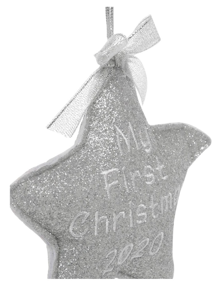 Merry & Bright 'Baby's First' Fabric Star Hanging Ornament image 2